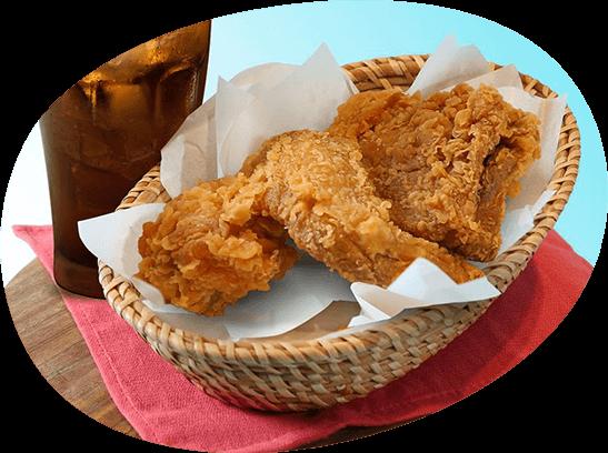 チキンへのこだわり|カリッと香ばしい、味わい深いチキンメニュー